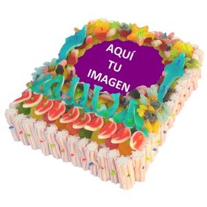 Tarta dulce con foto